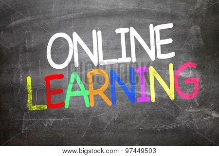 Online Learning written on a chalkboard