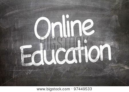 Online Education written on a chalkboard