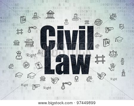 Law concept: Civil Law on Digital Paper background
