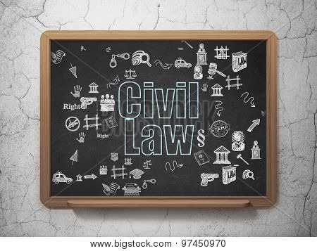 Law concept: Civil Law on School Board background