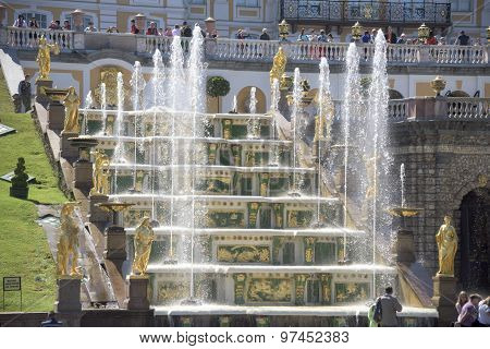 View Of The Grand Palace And The Grand Cascade