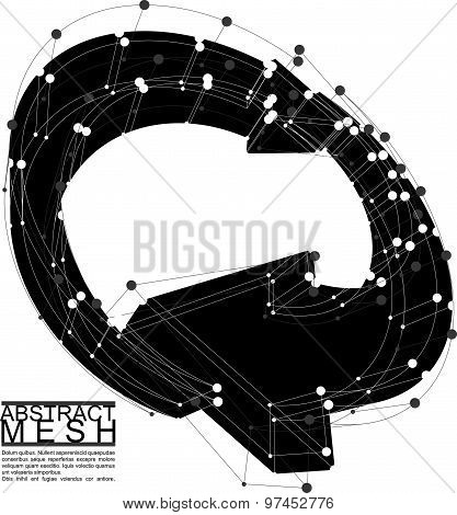 Abstract mesh vector illustration, template for technology theme layouts, connection and engineering