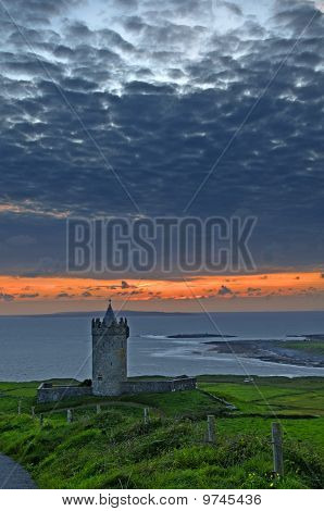 Beautiful Ancient Irish Celtic Castle Landscape