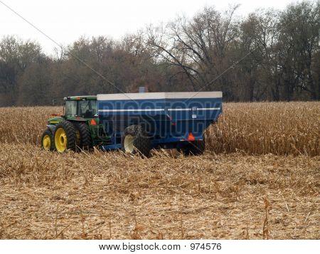 Tractor & Grain Wagon