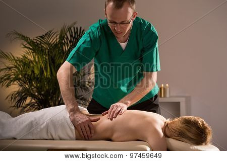 Woman During Wellness Massage