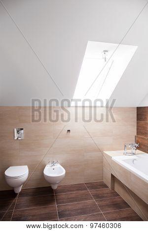 Hugh Bathroom With The Skylight