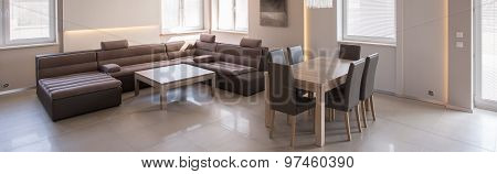 Panorama Of Modern Living Room