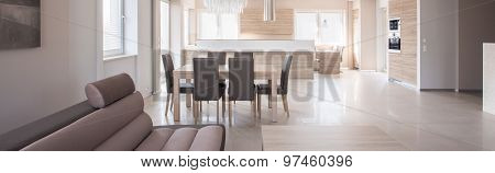 Dining Space And Kitchen