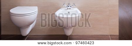 Simple Ceramic Toilet And Bidet