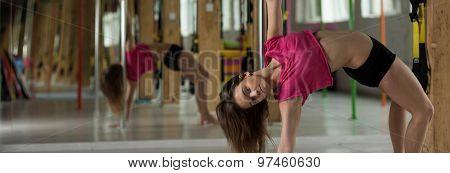 Dancer Posing During Training