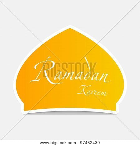 Ramadan Sticker Design Element.