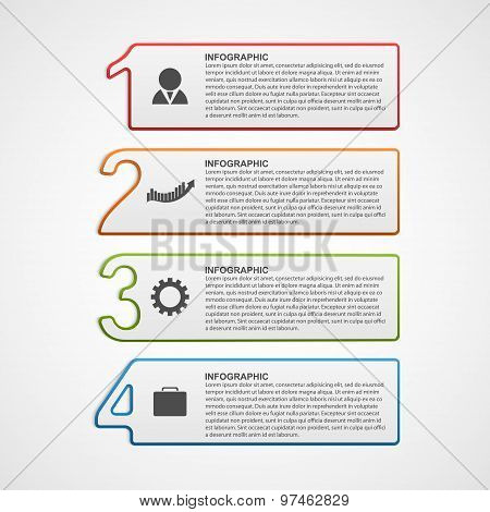 Creative Infographic Number Options Template. Vector Illustration.