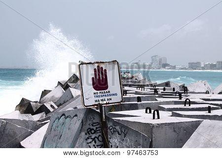 Hazardous area - no trespassing