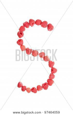 Letter S Made From Raspberry