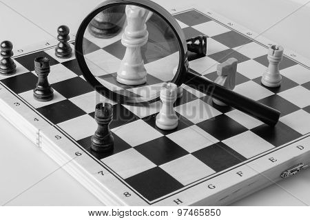 Chess Game Strategy Concept Photo Black And White