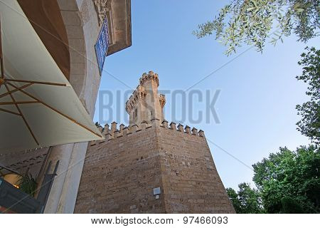 Stone Castle Towers Of The Almudaina Palace