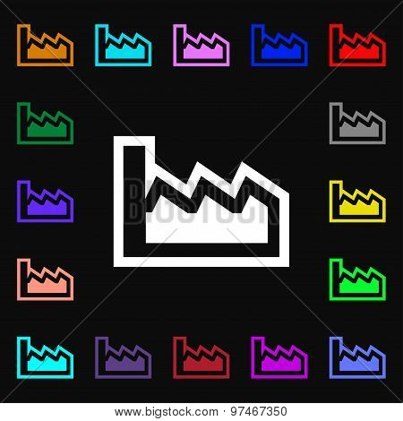 Chart Icon Sign. Lots Of Colorful Symbols For Your Design. Vector
