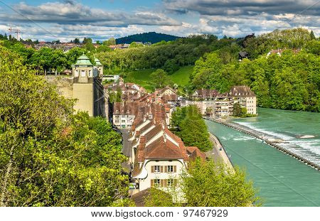 Riverside Of The Aare River In Bern - Switzerland