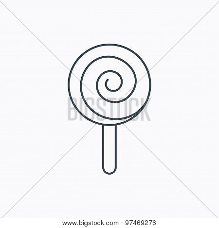 Lollipop icon. Lolly pop candy sign.