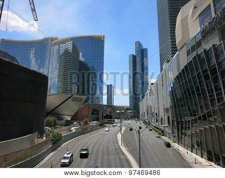 Harmon Street Leading To Crystals At City Center On Las Vegas Boulevard