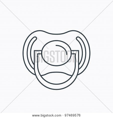 Pacifier icon. Nipple or dummy sign.
