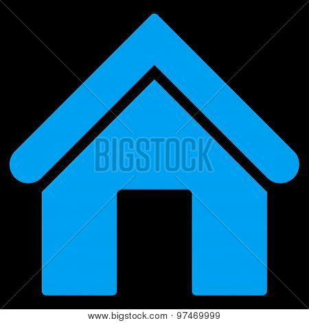 Home flat blue color icon