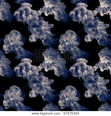 Seamless Pattern With Abstract Clouds Of Ink