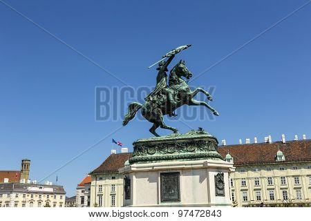 Equestrian Statue Of Archduke Charles Of Austria At Heldenplatz