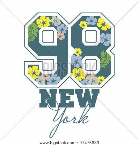 Fashion Typography Graphics. Sport T-shirt