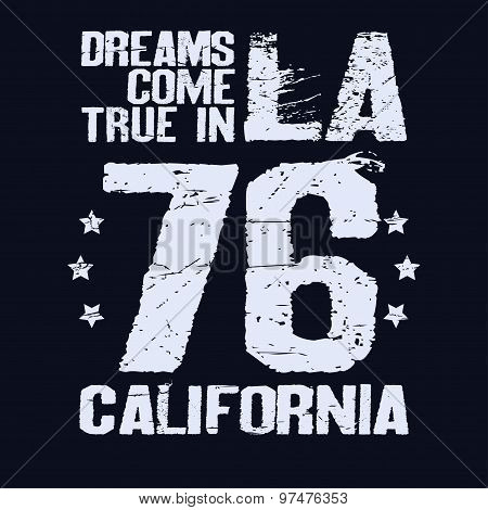 California T-shirt fashion Typography