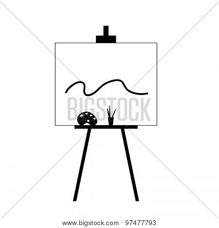 Canvas With Colors Black Vector