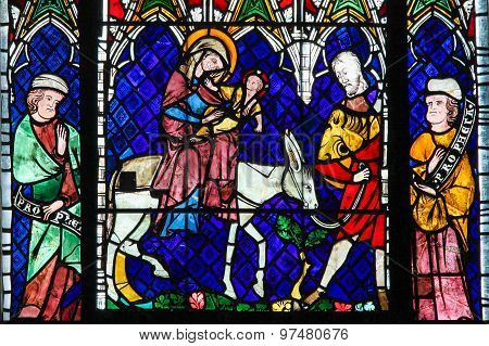 Stained Glass - Flight Into Egypt