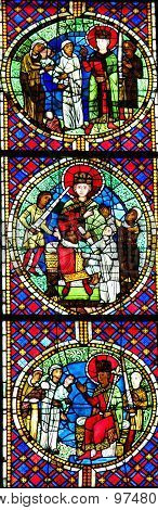 The Judgment Of Solomon - Stained Glass