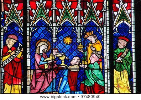 Stained Glass - The Adoration Of The Magi