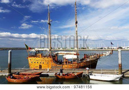 Portimao Harbor in Portugal, Algarve, Europe