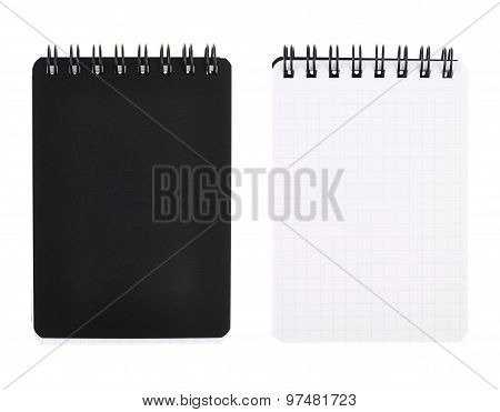 Small writing pocket note book isolated