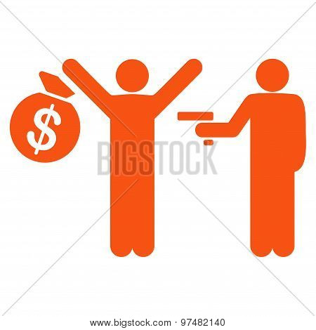 Robbery icon from Business Bicolor Set