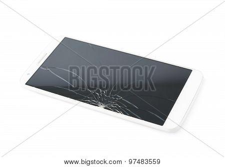 Smart phone with a broken screen
