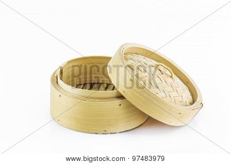 Bamboo Round Container Shape For Steaming Asian Food