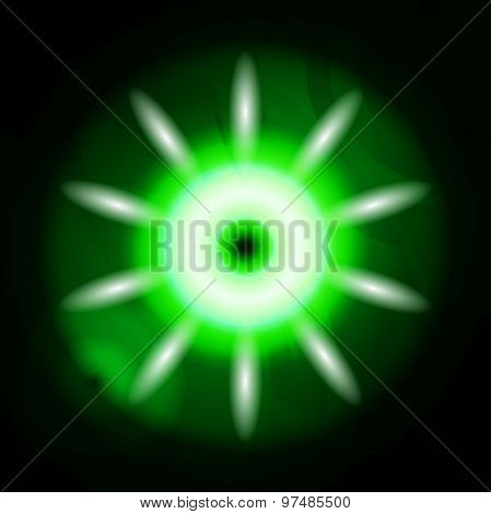 Dark green Ray of Lights explosion effect