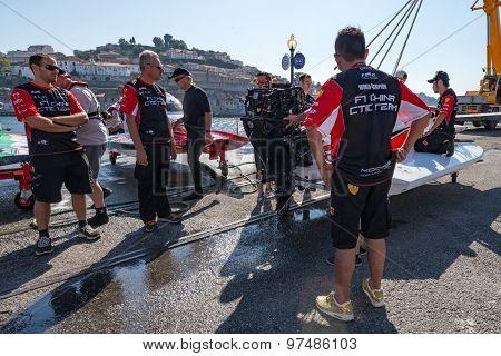Ctic China Team Boat Preparations