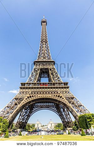 View Of Construction Of Eiffel Tower, Pari
