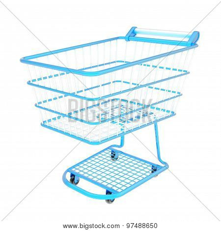 Colorful shopping cart isolated