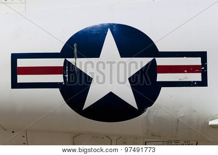 American Flag On a Fighter Jet