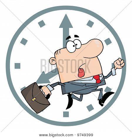 Kaufmann spät zur Arbeit