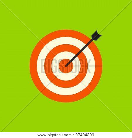 Target icon, modern minimal flat design style. Aim vector illustration, dartboard symbol