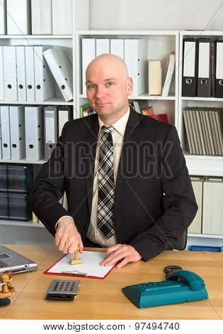 Young Businessman In The Office