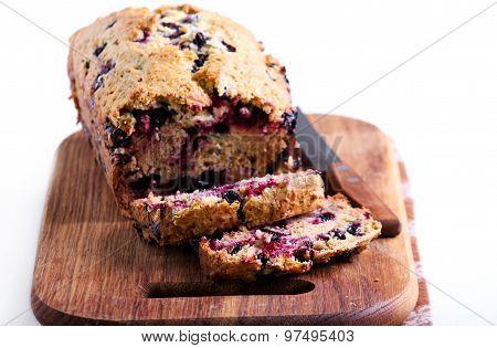 Berry, Mint And Spelt Flour Teacake