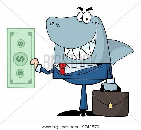 Smiled Business Shark Holding Cash