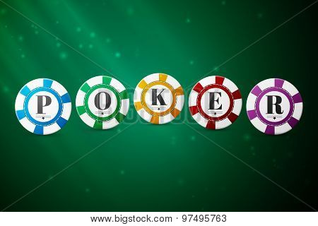 Colorful poker chips